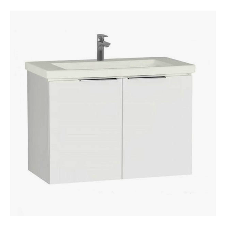 Ecora 900mm Two Door Wall Hung Unit and Basin - blueskybathrooms