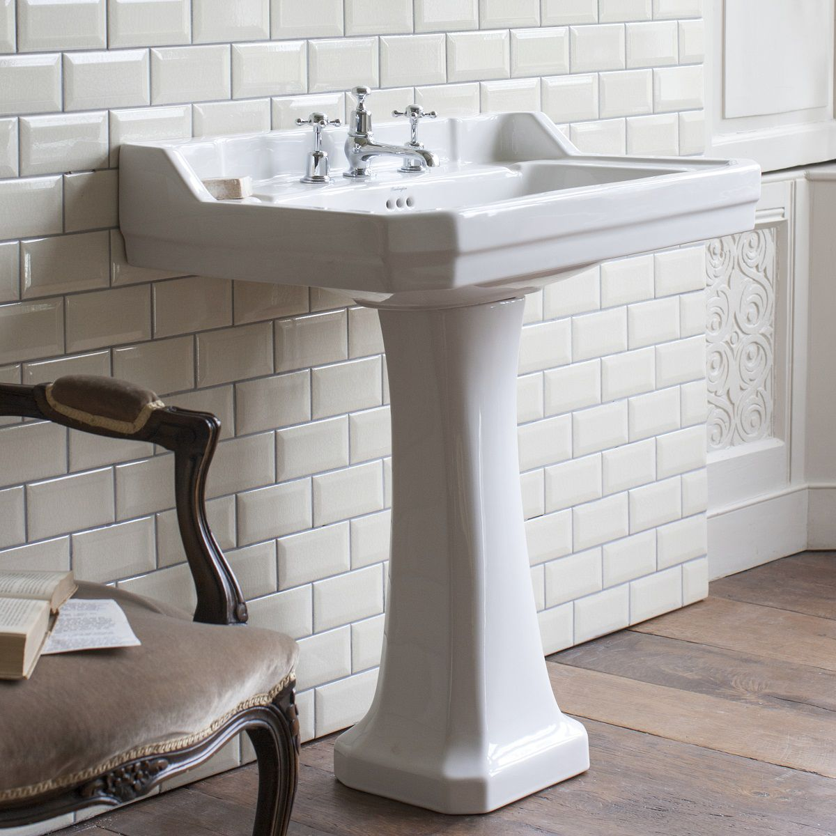 Edwardian Square Basin - blueskybathrooms