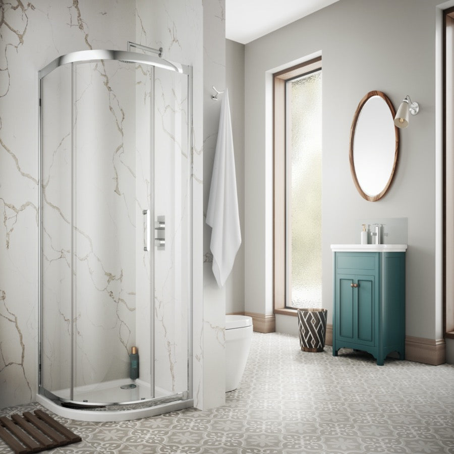 Sommer 8 Single Door  Quadrant Enclosure - blueskybathrooms