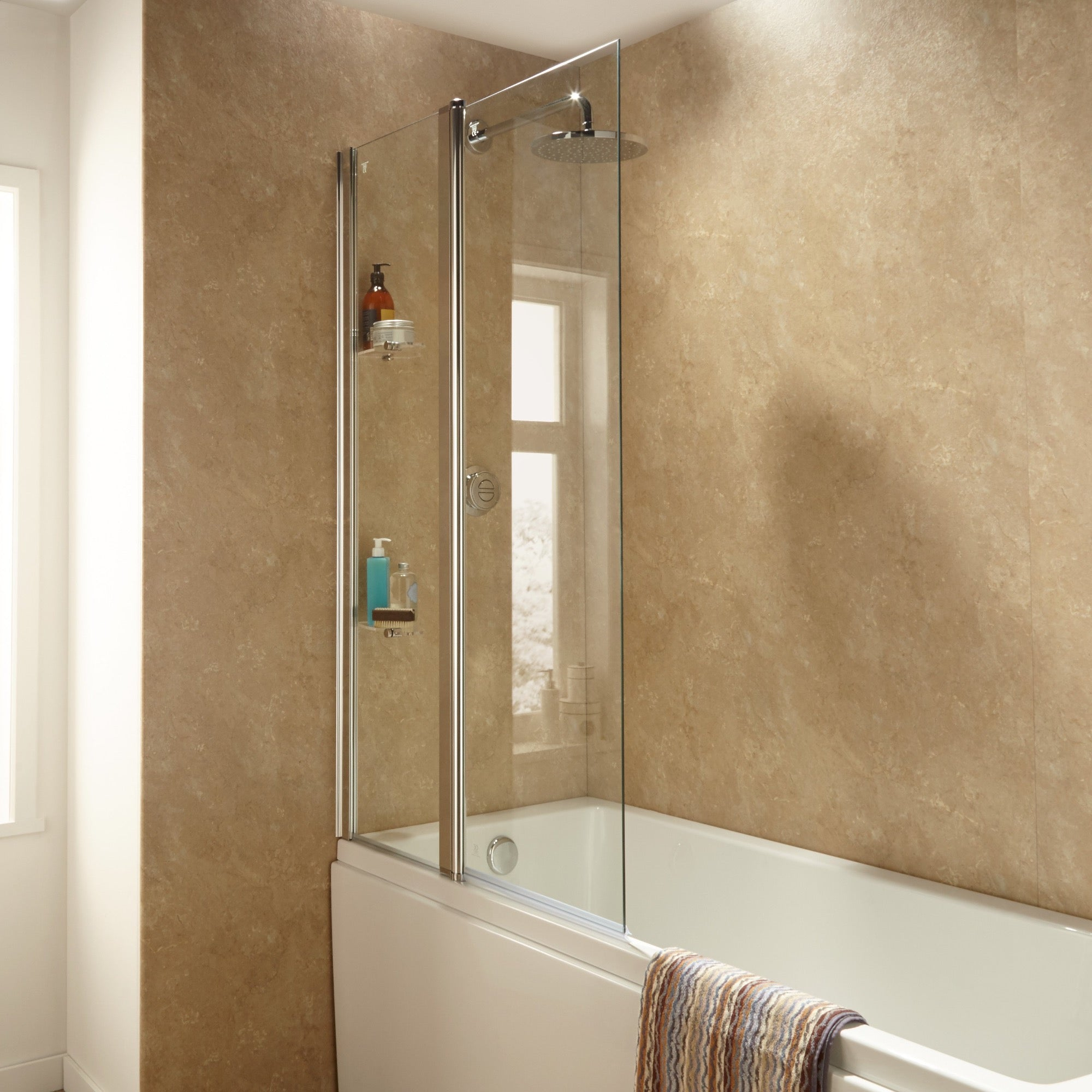 Sommer Extended Square Bath Screen - blueskybathrooms