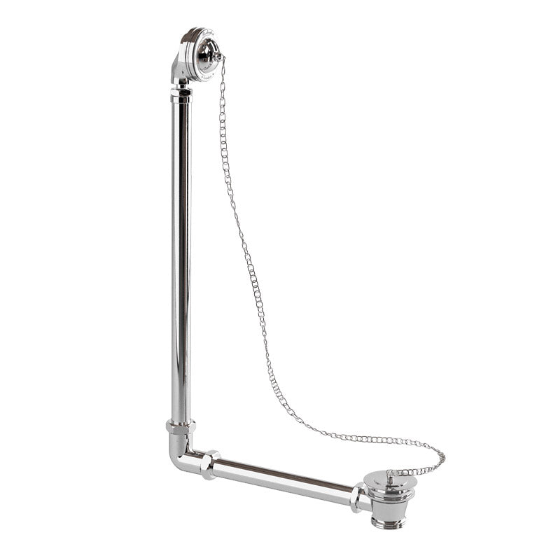 Burlington Vertical Bath Overflow-Plug-Chain for External Use - Single Ended Baths