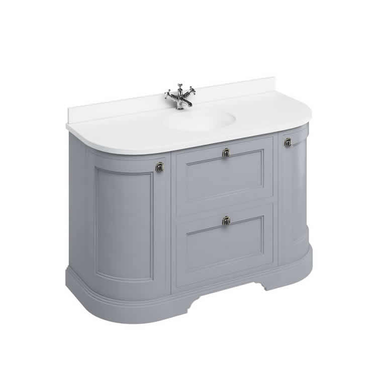 Grey 1340mm Classic Vanity Unit with Basin - blueskybathrooms
