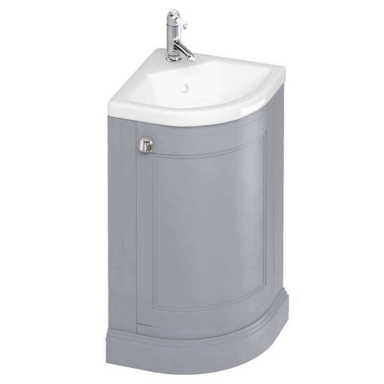 Grey Corner Vanity Unit and Basin - blueskybathrooms