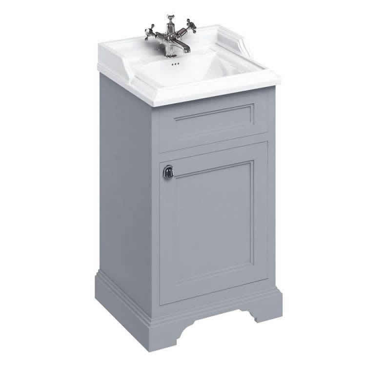Grey 500mm Classic Vanity Unit and Basin - blueskybathrooms