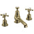 Burlington Claremont Gold 3 Tap Hole Basin Mixer & Pop Up Waste
