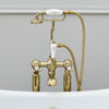 Burlington Claremont Gold Deck Mounted Bath Shower Mixer