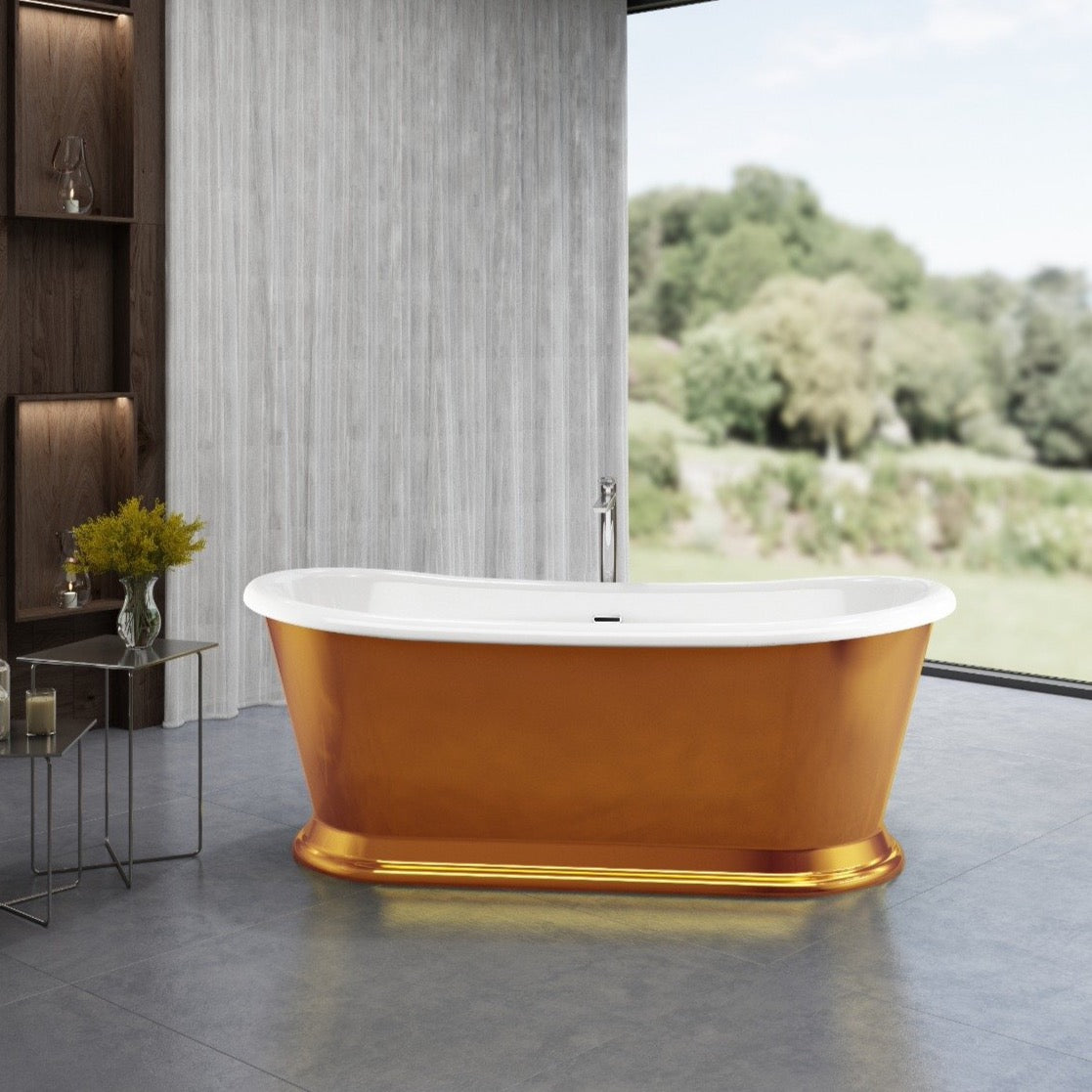 Charlotte Edwards Rosemary Copper 1700mm Freestanding Bath