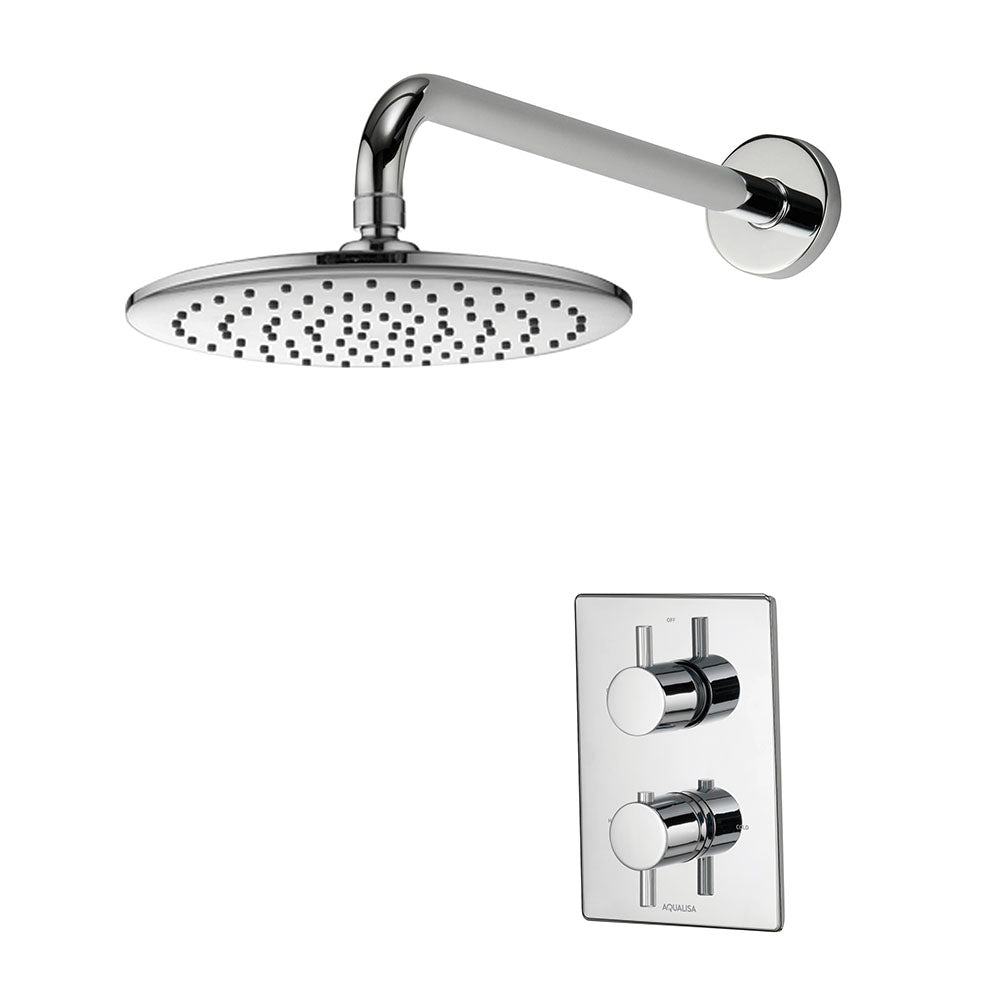 Image of Aqualisa Dream DCV Mixer Shower With Wall Fixed Drencher Head