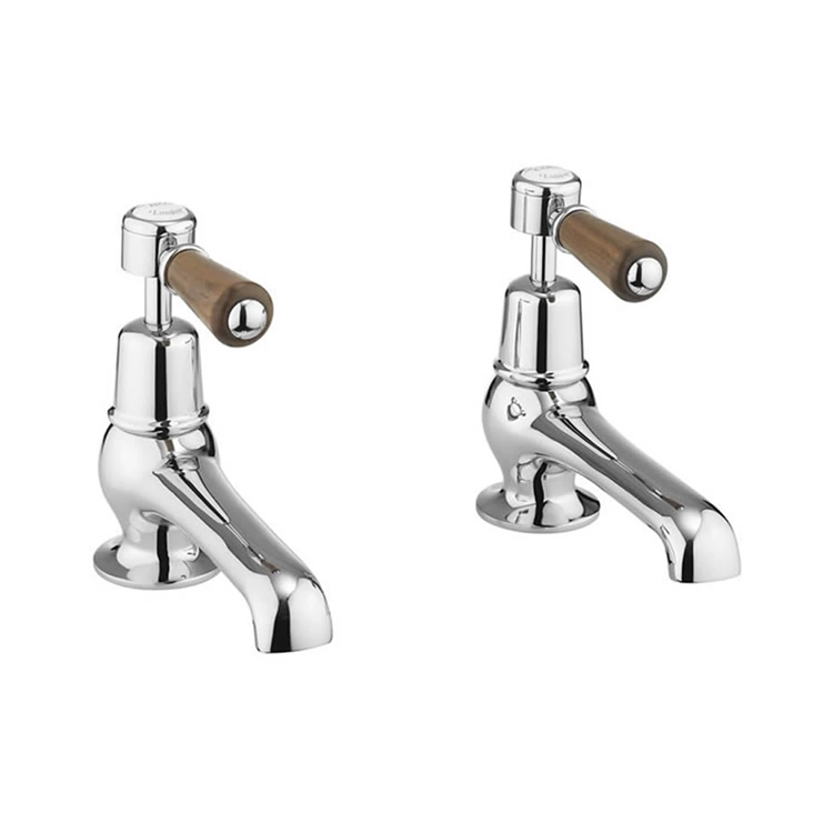 Burlington Kensington Walnut Bath Taps