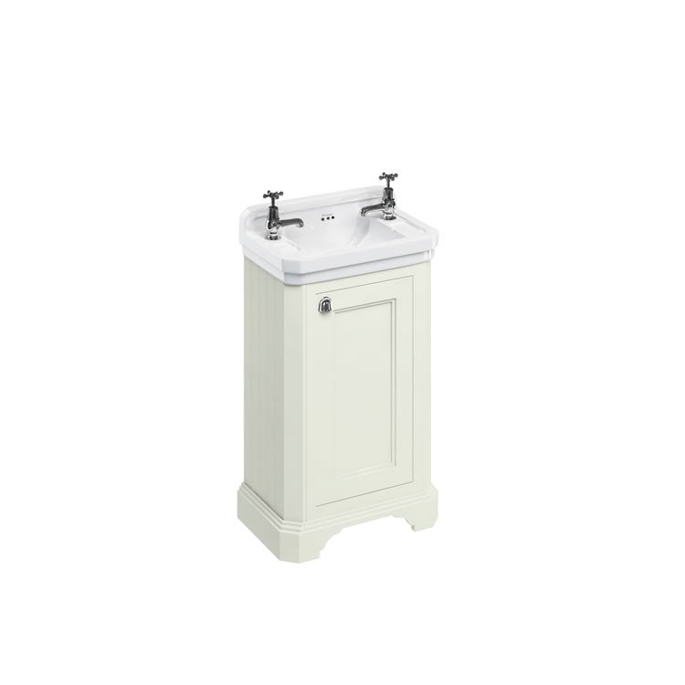 Sand 510mm Edwardian Cloakroom Unit with Basin - blueskybathrooms
