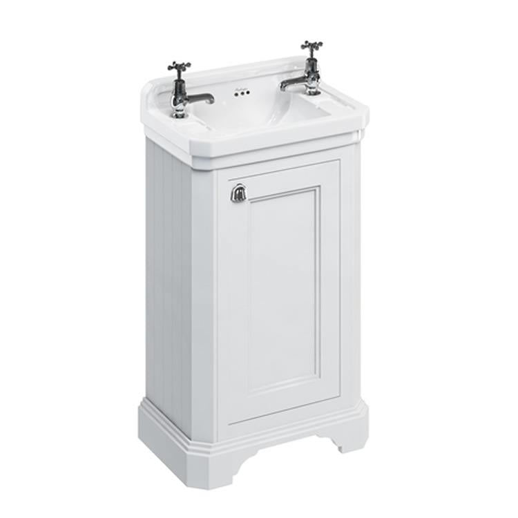 Matt White 510mm Edwardian Cloakroom Unit with Basin - blueskybathrooms