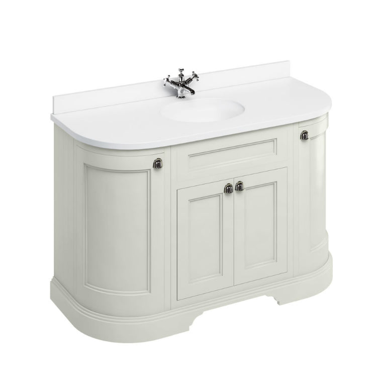 Sand 1340mm Classic Vanity Unit with Basin (With Doors) - blueskybathrooms