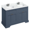 Burlington Blue Classic 1300mm Double Vanity Unit with Minerva Worktop & Basin