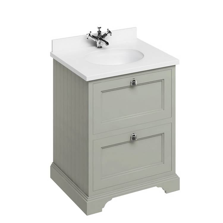 Olive 650mm Classic Vanity Unit with Basin - blueskybathrooms