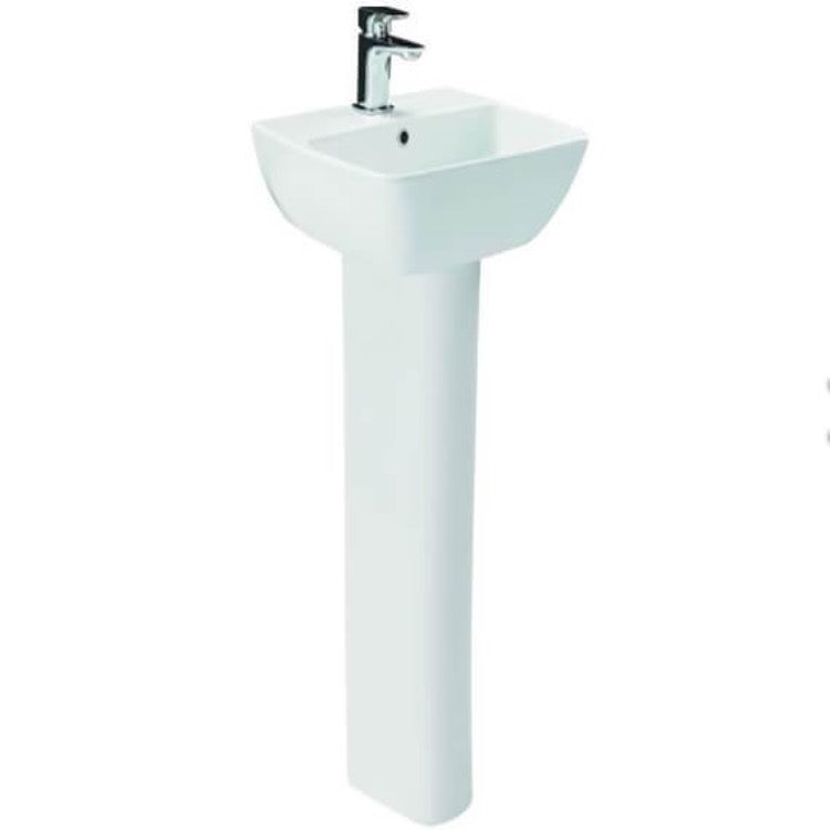 Myhome Basin And Pedestal - blueskybathrooms