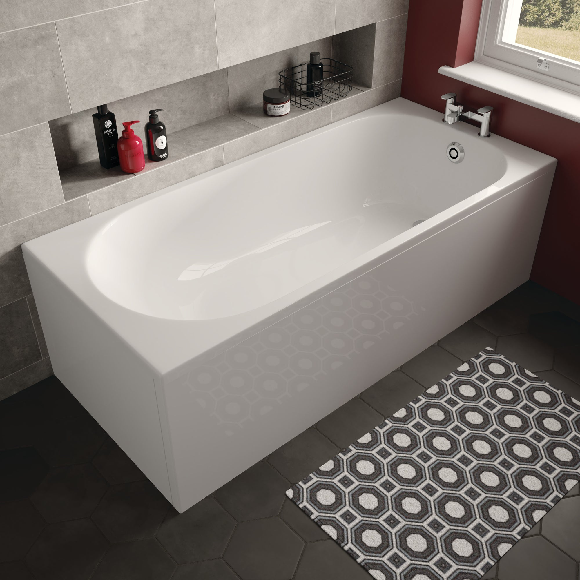 Arnold Single Ended Bath - blueskybathrooms