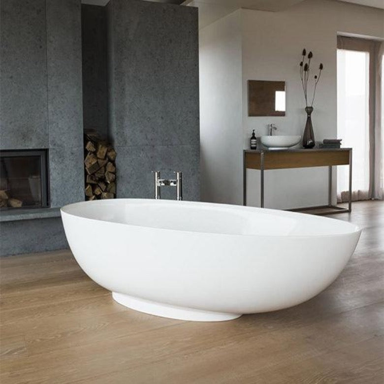 Clearwater Teardrop Grande 1910mm Clear Stone Freestanding Bath - blueskybathrooms