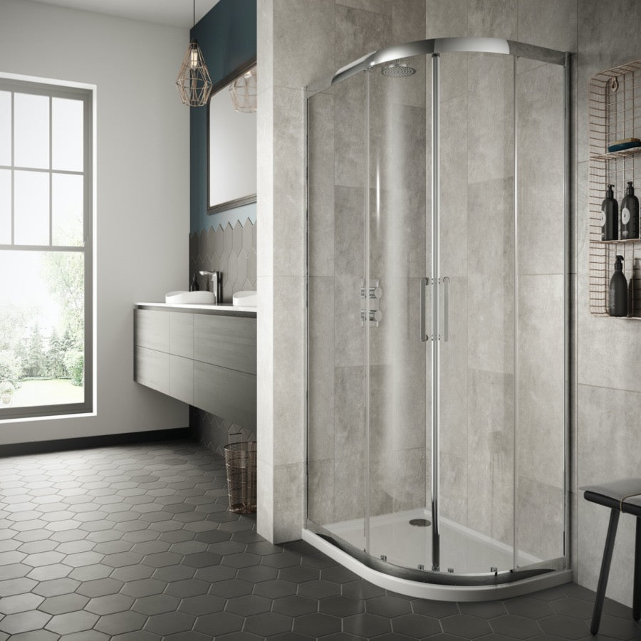 Sommer 8 Double Door Quadrant Enclosure - blueskybathrooms