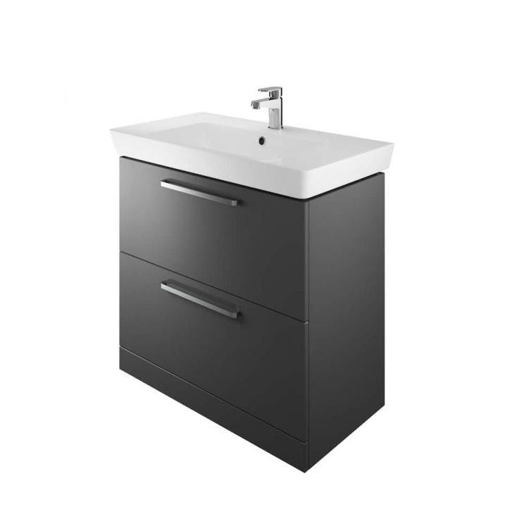 Scene 800mm Two Drawer Floor Standing Unit and Basin - blueskybathrooms