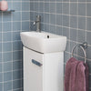 Myhome 450mm Floorstanding Cloakroom Unit With Basin - blueskybathrooms