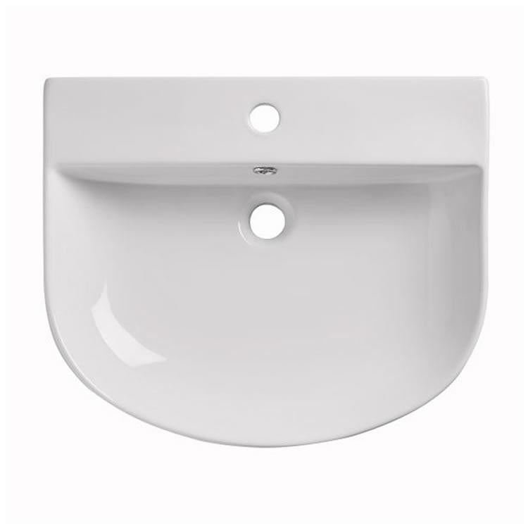 Orbit Semi Recessed Countertop Basin - blueskybathrooms