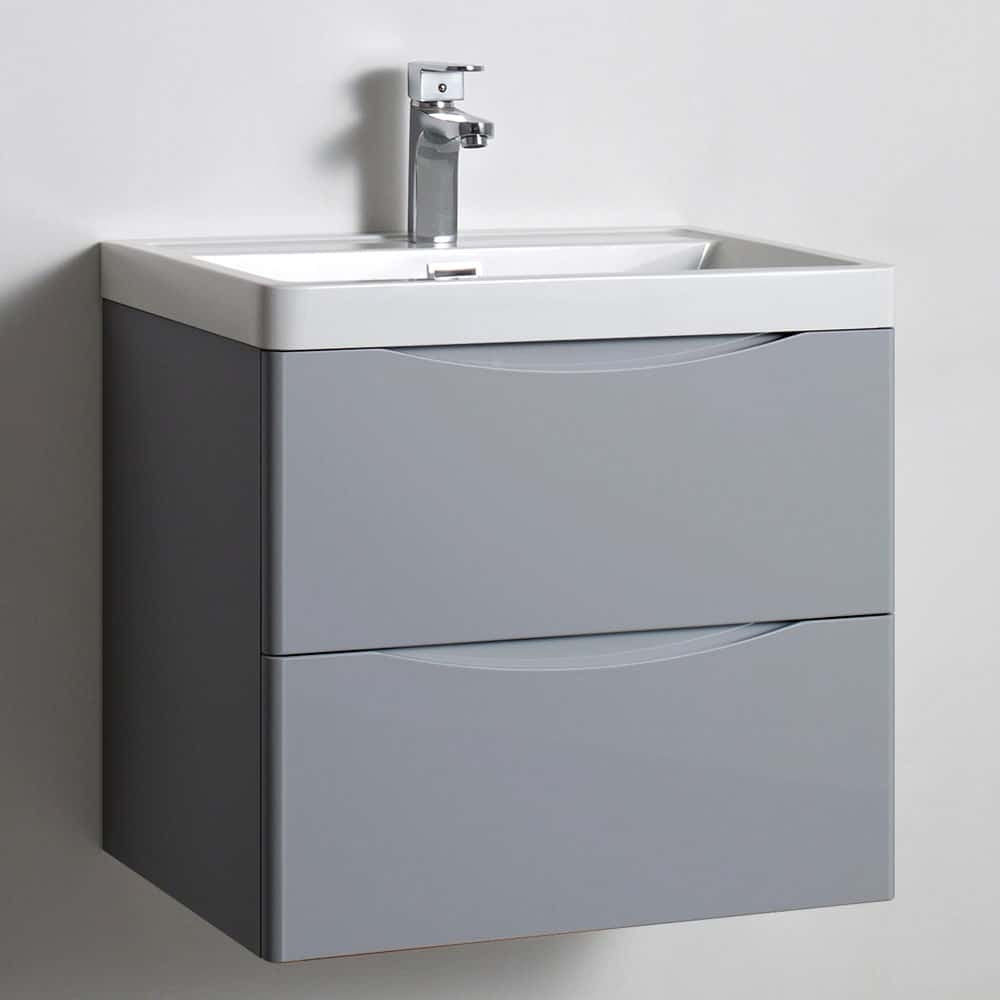 Image of 600mm Wall Hung Soft Close Vanity Drawer Unit