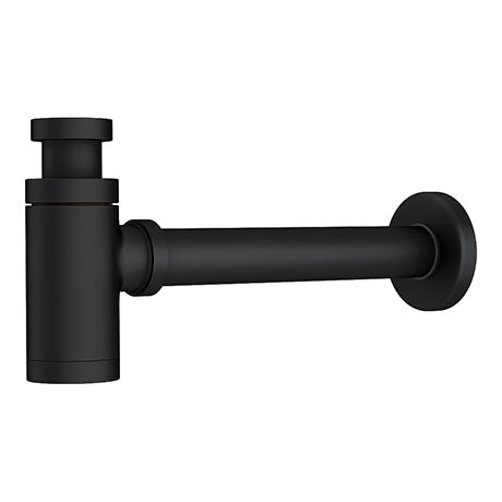 Round Bottle Trap (Black) - blueskybathrooms