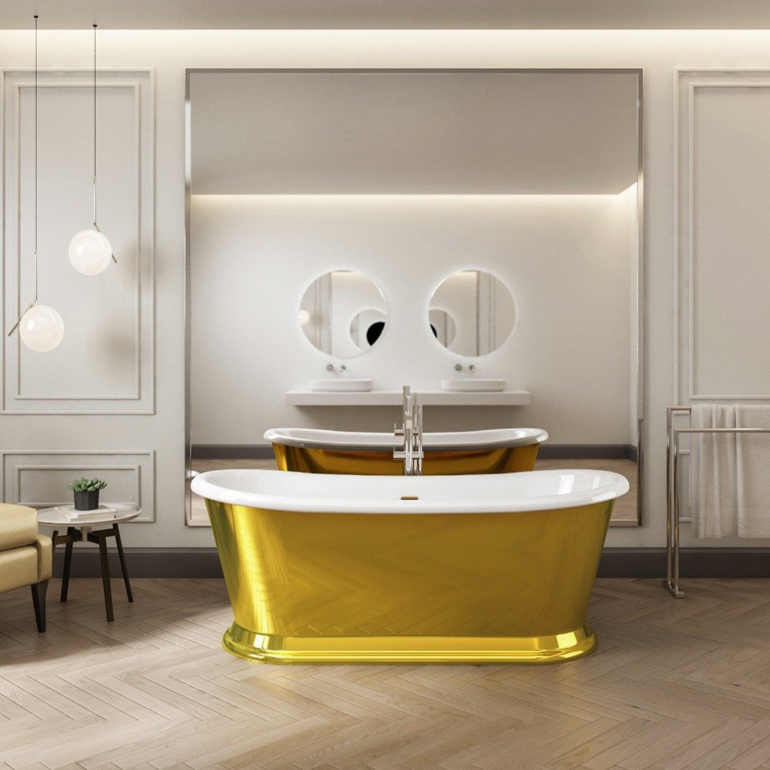 Charlotte Edwards Rosemary Gold 1700mm Freestanding Bath