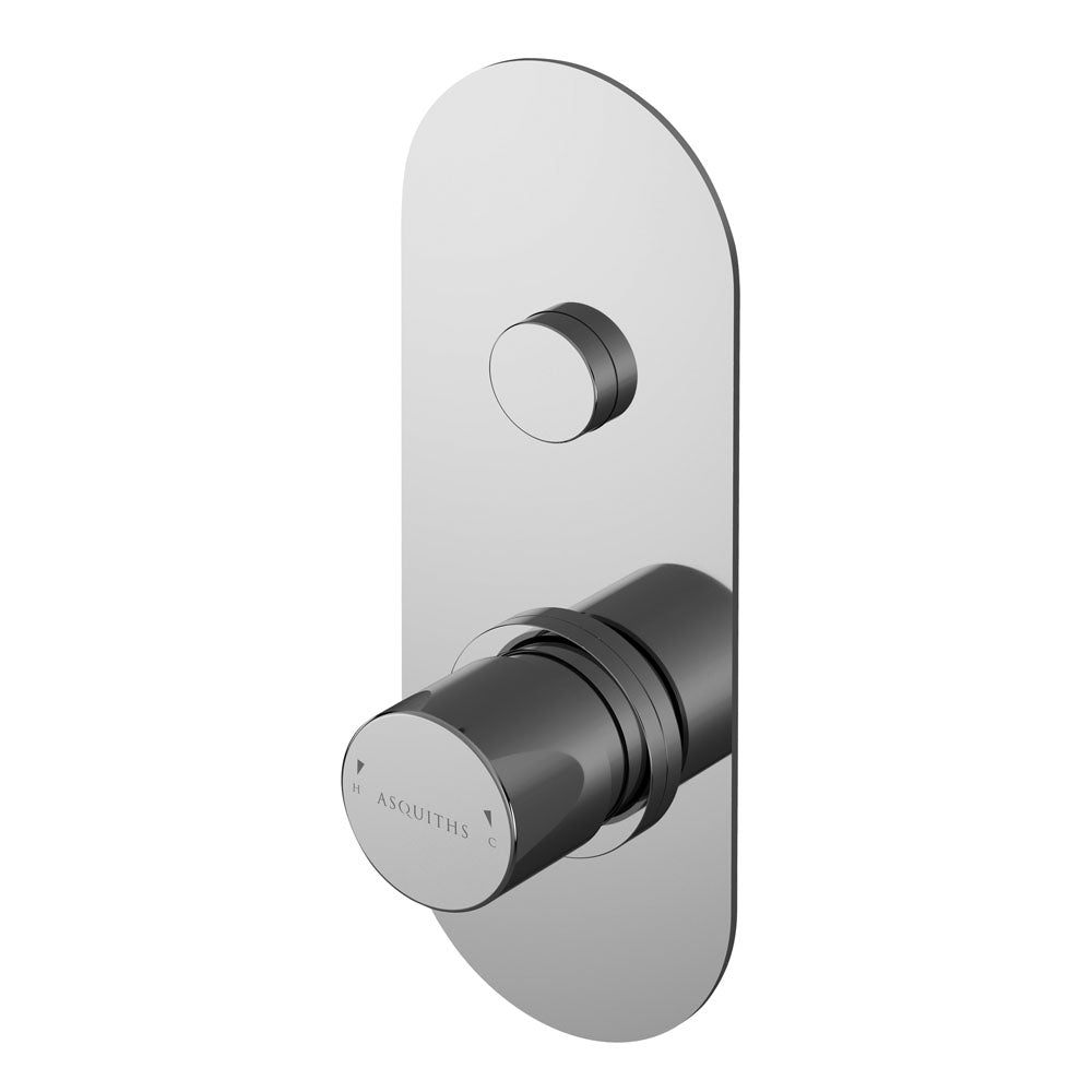 Asquiths Solitude Push Button Shower Valve - blueskybathrooms