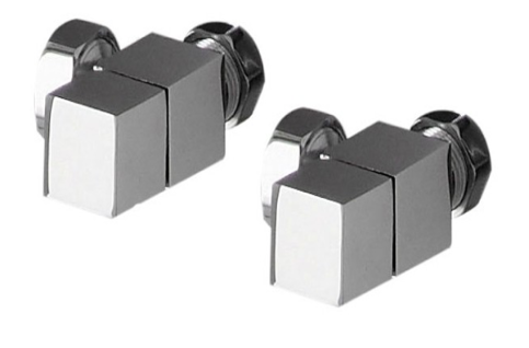 Angled Square Valve Pack (Chrome) - blueskybathrooms