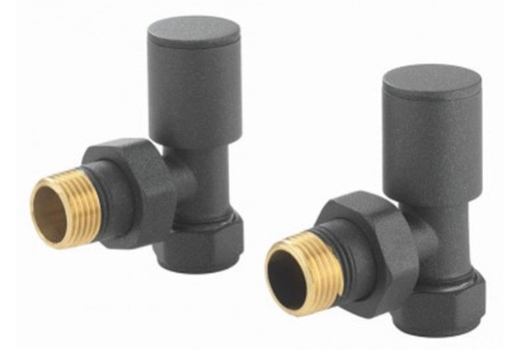 Angled Round Valve Pack (Anthracite) - blueskybathrooms
