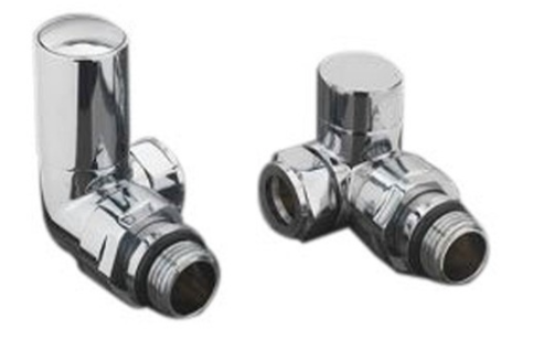 Corner Round Valve Pack (Chrome) - blueskybathrooms