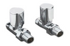Straight Round Valve Pack (Chrome) - blueskybathrooms