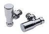 Angled Round Valve Pack (Chrome) - blueskybathrooms