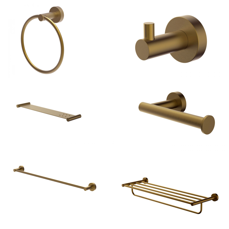 Hoxton Brushed Brass Accessories Bundle - blueskybathrooms