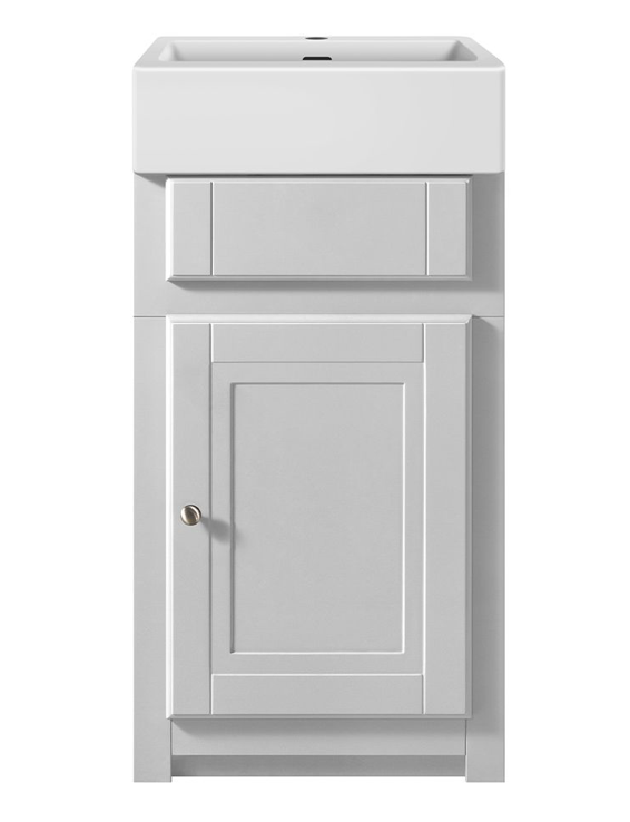 Image of Tenby Chalk White Traditional Belfast Cloakroom Vanity Unit