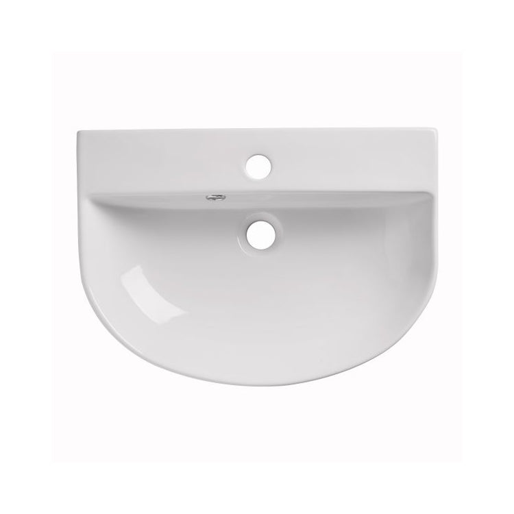 Orbit Slim Semi Recessed Counter top Basin - blueskybathrooms