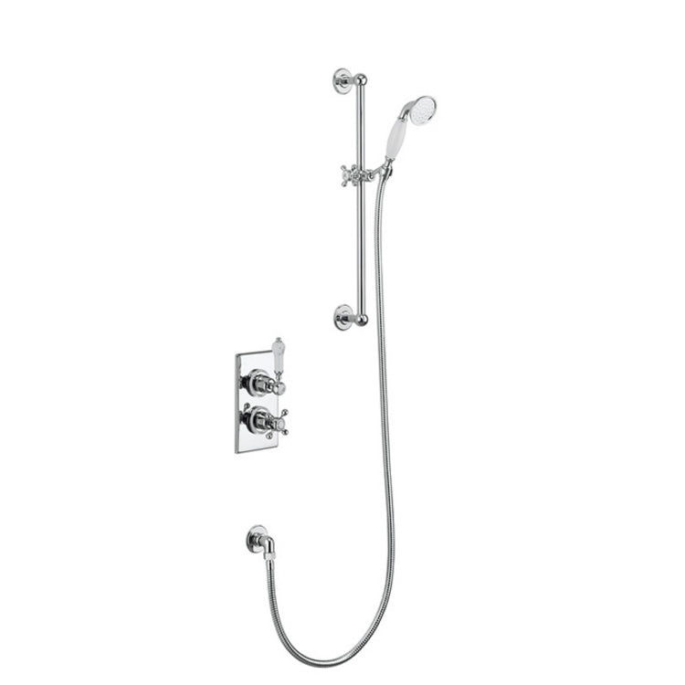 Trent Concealed Thermostatic shower valve with Slide Rail - blueskybathrooms
