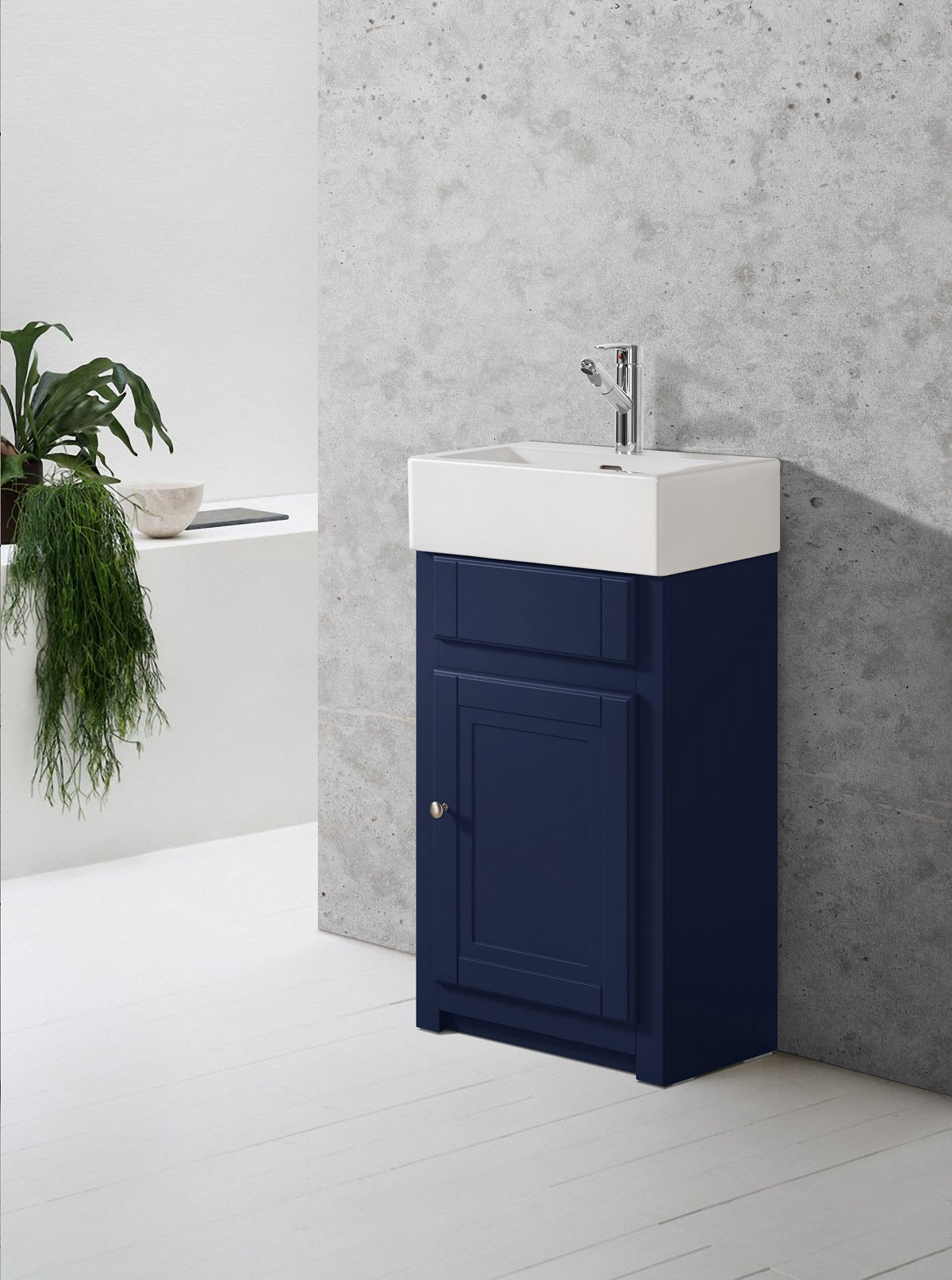 Image of Tenby Sapphire Traditional Belfast Cloakroom Vanity Unit