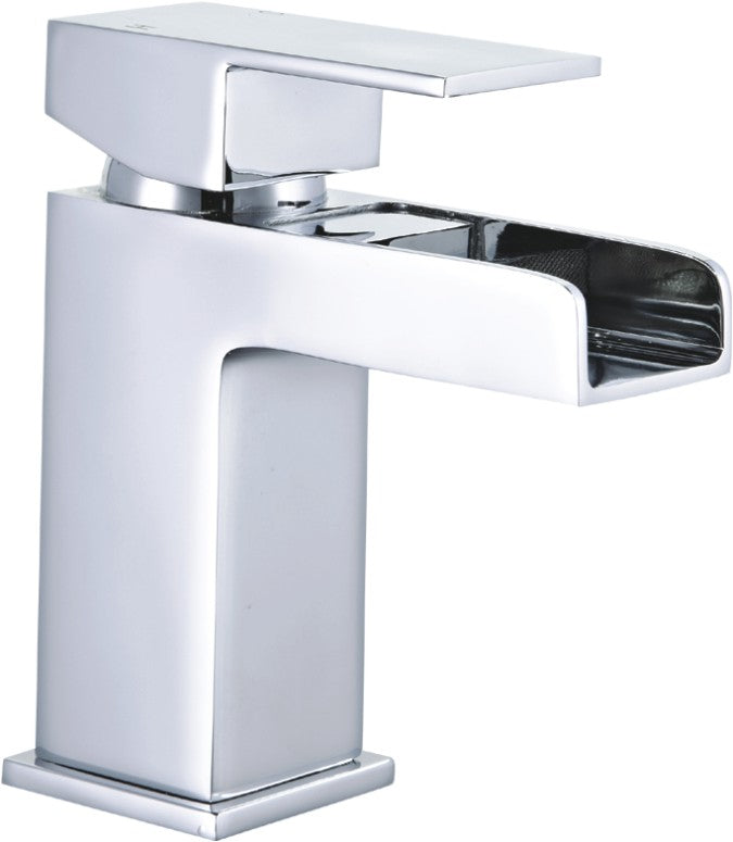 Cardiff Square Waterfall Mini Mono Basin Mixer