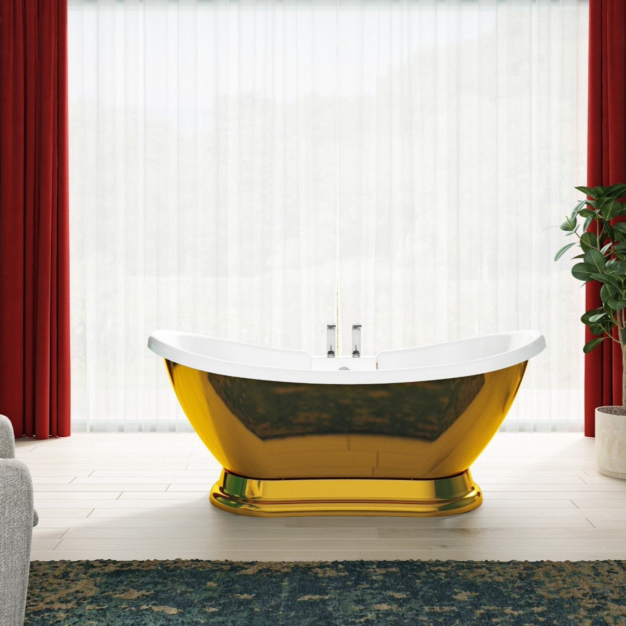 Charlotte Edwards Trafalger Gold 1700mm Freestanding Bath