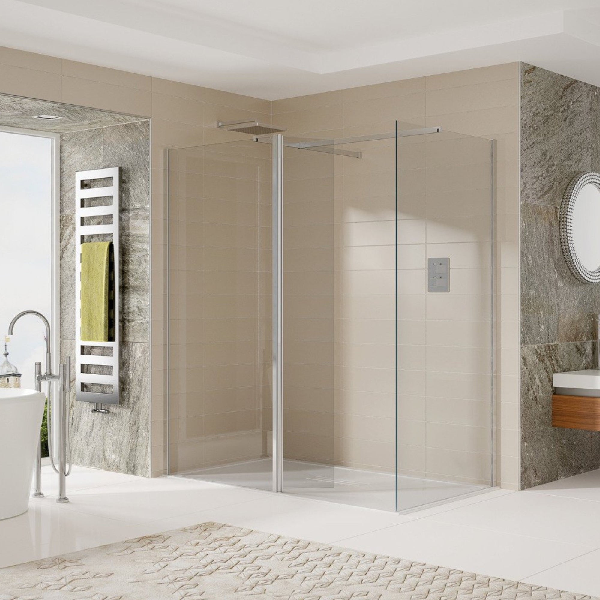 Sommer Wetrooms Hinged Return Panel - blueskybathrooms