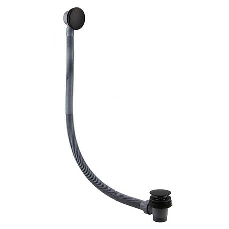Sprung Plug Bath Waste (Black) - blueskybathrooms