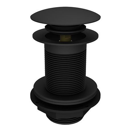 Sprung Plug Unslotted Waste - (Black) - blueskybathrooms