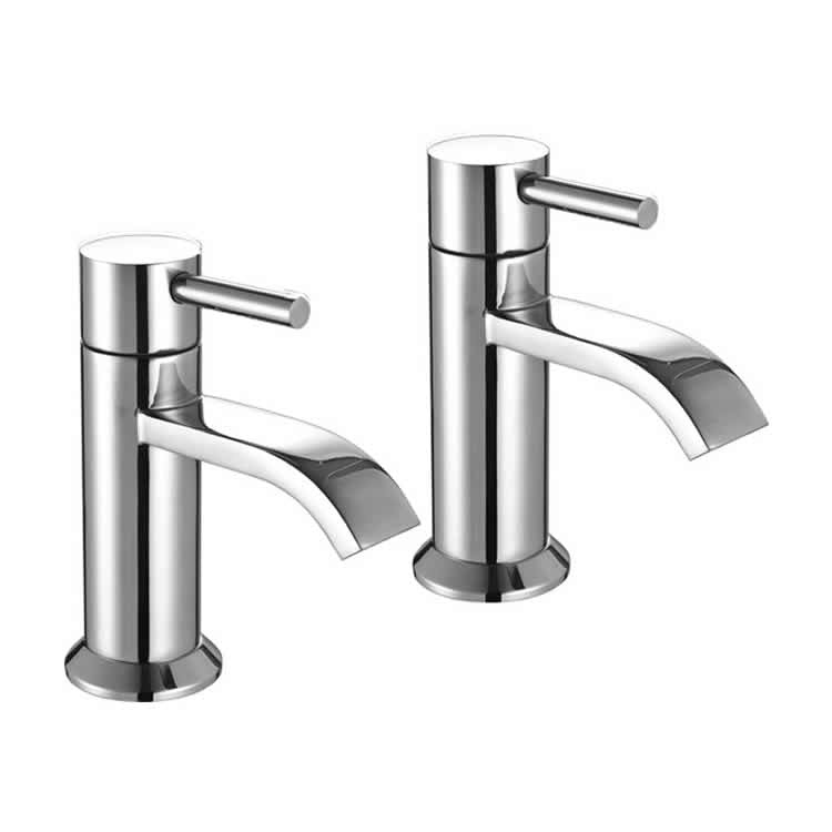 The White Space Fall Bath Pillar Taps