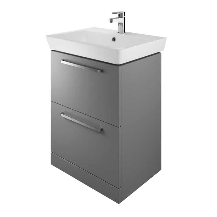 The White Space Scene 600mm Floorstanding Vanity Unit & Basin