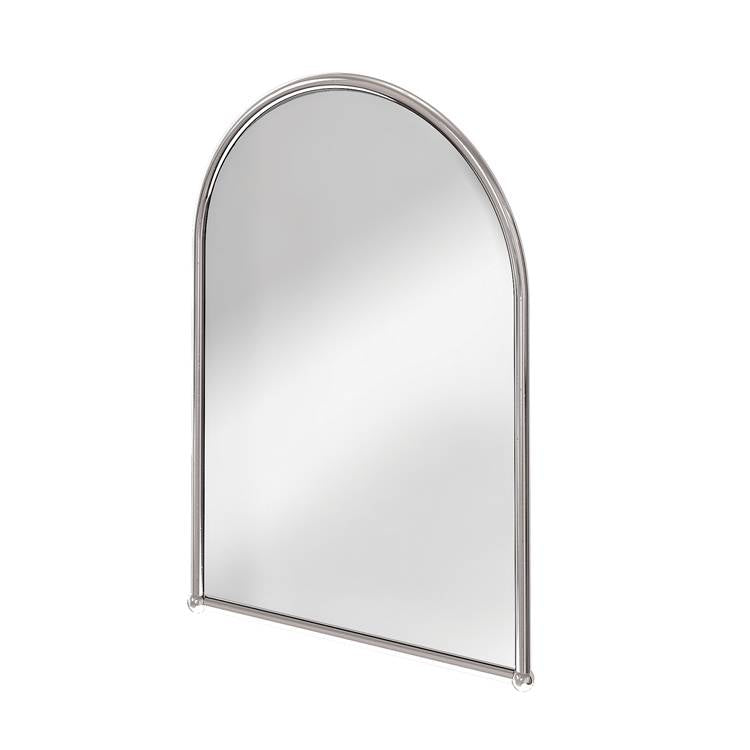 Image of Burlington Arched Mirror with Chrome Frame