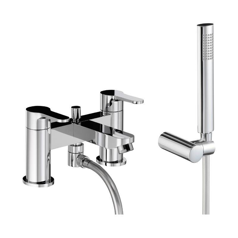 Image of Abode Debut Deck Mounted Bath Shower Mixer with Handset