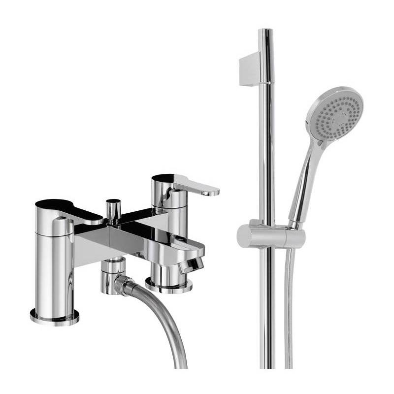 Image of Abode Debut Deck Mounted Deluxe Bath Shower Mixer