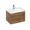 Britton Bathrooms Shoreditch 650mm Caramel Single Drawer Unit & Basin